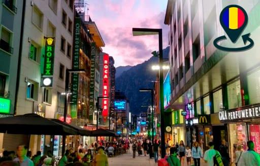 Shopping street, Andorra, pedestrian