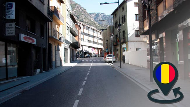 Shops closed by the corona virus in Andorra